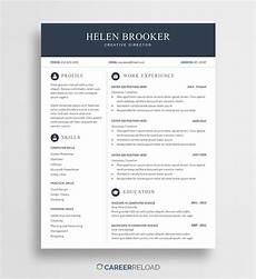free cv template for word free download career reload