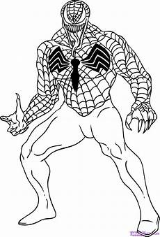 Easy Venom Coloring Pages How To Draw Venom Step By Step Marvel Characters Draw
