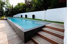 couloir de nage hors sol bois piscines les nouvelles tendances galerie photos d