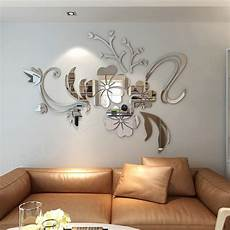 Home Decor Ideas Wall Stickers by 2019 3d Stereo Flower Wall Mirror Wall Stickers Rosegal