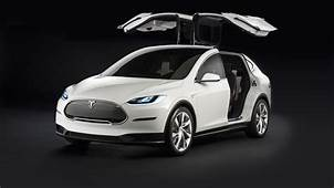 Wallpaper Tesla Model X White Electric Cars Suv 2016