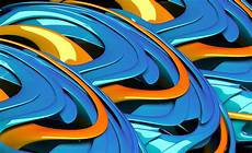 Cool Blue And Orange Wallpaper