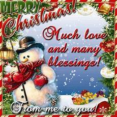 merry christmas much love and many blessings from me to you pictures photos and images for