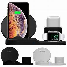 Bakeey Charge Dock With Charger Cable by Bakeey 3 In 1 Fast Qi Wireless Charger Stand Dock For