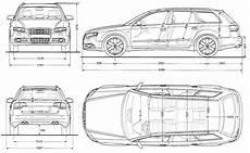 2005 Audi S4 B7 Typ 8e Avant Wagon Blueprints Free