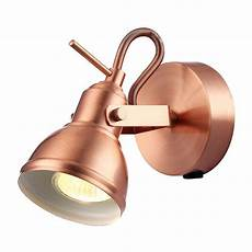 unique industrial designed brushed copper switched wall spot light happy homewares