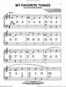 hammerstein my favorite things sheet music for piano