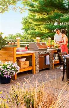 lowes outdoor kitchen designs 15 beautiful ideas for outdoor kitchens wood structure