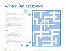 winter crossword worksheets 19981 the world s catalog of ideas