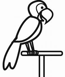 Malvorlage Papagei Einfach Kostenlose Malvorlage V 246 Gel Papagei Zum Ausmalen
