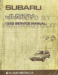 best auto repair manual 1987 subaru justy electronic valve timing 1988 subaru justy repair shop manual original