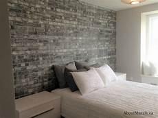 Backstein Tapete Schlafzimmer - grey brick wallpaper customer photos from aboutmurals ca
