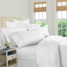 luxury hotel collection 500 tc 100 cotton sateen stripe sheet available in multiple