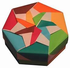schachtel falten anleitung lets make origami heptagonal origami box folding