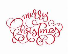 merry christmas vector vintage text calligraphic lettering design card template creative
