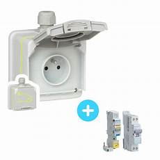 installation prise electrique pour voiture pack prise legrand green up 16a 090471 3 7 kw