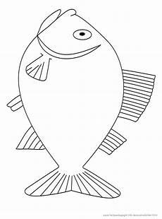 malvorlage fisch din a4