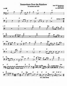 somewhere over the rainbow for ukulele and cello sheet music for piano download free in pdf or midi