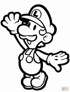 paper bowser coloring pages 17646 paper luigi coloring page free printable coloring pages