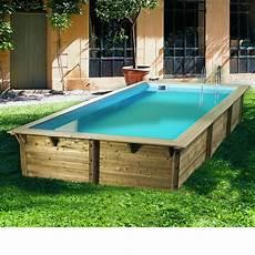 Piscine Bois Rectangulaire Sunwater 5 55 X 3 00 X H1 40m