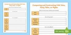 comparing and contrasting folktales activity teacher made