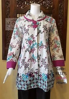 Model Baju Batik Wanita Lengan Panjang Untuk Kerja Dengan