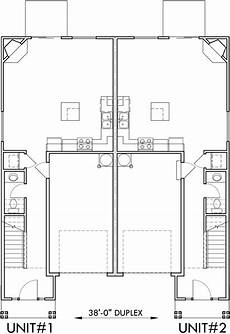 narrow lot duplex house plans main floor plan 2 for d507 narrow lot duplex house plans