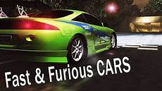 fast and furious 1 nfs underground 2 fast furious 1 cars