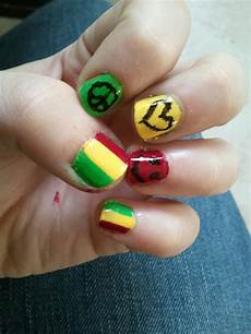 rasta nails by ringmasterx on deviantart