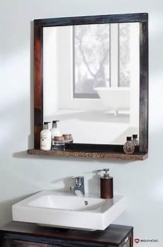 bad spiegel mit ablage metallapplikation 3550 goa