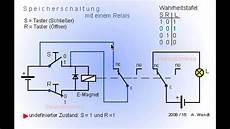 relais speicherschaltung vereinfacht