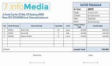 contoh faktur penjualan buku tulis buku keuangan
