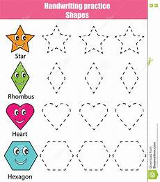 shapes worksheets practice 1229 handwriting practice sheet educational children activity learning shapes printable