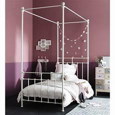letto a baldacchino bianco letto bianco a baldacchino 90 x 190 cm in metallo syracuse
