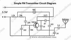 Fm Transmitter Circuit Diagram Schematic by Gt Circuits Gt Simple Fm Transmitter Circuit Schematic