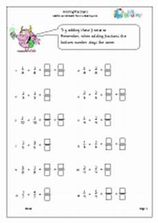 fractions maths worksheets for year 3 age 7 8