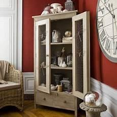 armoire en manguier 2 portes 2 tiroirs constance jardin d