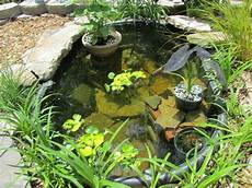Diy Idea For A Mini Garden Pond With A Mortar And