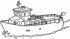 Ausmalbilder Polizeischiff Schiffe Boote