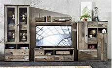 Shabby Möbel Günstig - wohnwand wohnzimmer set 5 tlg vitrine kommode lowboard