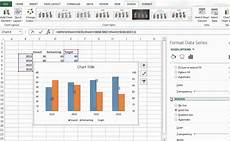 ms excel combining two different type of bar type in one