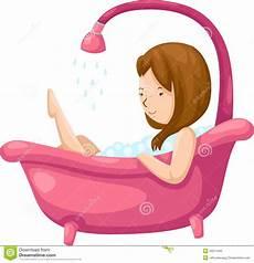 entspannen in der badewanne bathing in bathtub stock vector illustration of