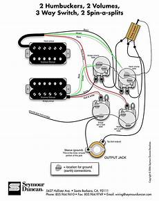 seymour duncan wiring diagram 2 humbuckers 2 vol 3 way 2 spin a splits tips tricks in