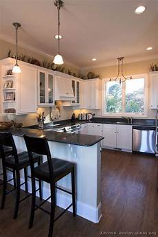 Traditional Kitchen Peninsula by Pictures Of Kitchens Traditional White Kitchen Cabinets