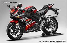 Modif R15 V3 by Modifikasi Striping Yamaha R15 V3 Black Black