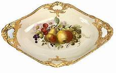 Large Kpm Berlin Nouveau Porcelain Fruit Bowl Serving