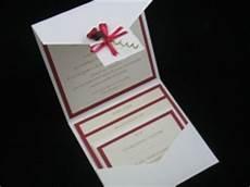 extremely stylish wallet style wedding invitations cardinal bridal