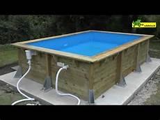 montage piscine hors sol en bois rectangulaire ubbink