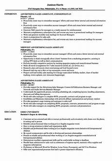 ad sales assistant resume how to write a sales