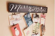 merry bright merry mail christmas card holder christmas etsy